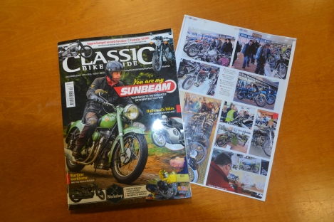 Pictured painting at the National Motorcycle Musium Live event 2018 in both the Classic Bike Guide and the Classic motorcycle magazines